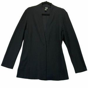Eileen Fisher Black Wool One Button Blazer